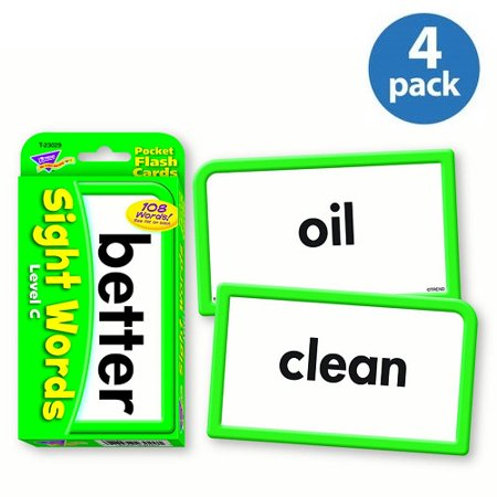 Trend Sight Words Level C Learning Cards, Pack of 4