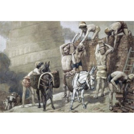 Posterazzi SAL999452 Building the Tower of Babel James J. Tissot 1836-1902 French Jewish Museum New York Poster Print - 18 x 24 in. - image 1 of 1