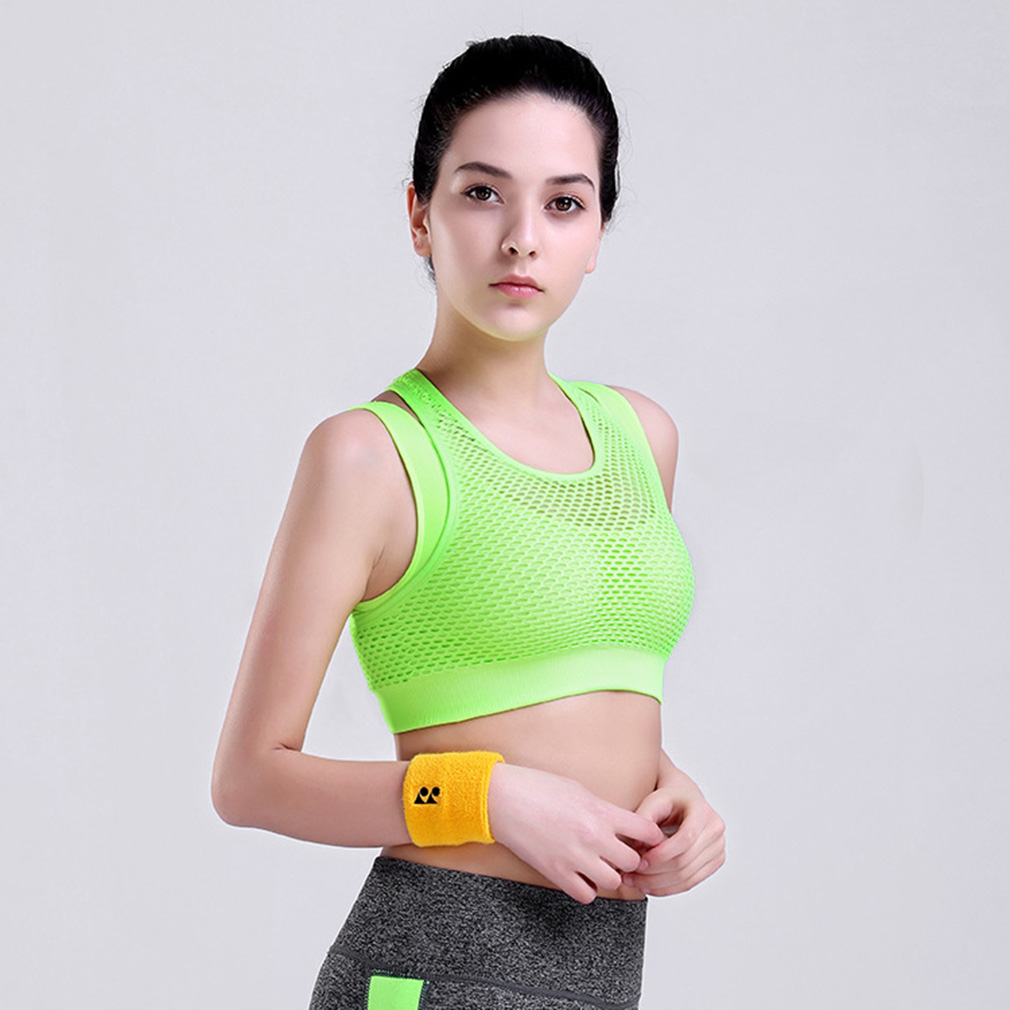 bc281fb16d New Style Women Ladies Breathable Sports Yoga Bra Push Up Overlapping Top  Bras