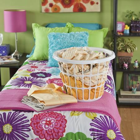 Mainstays 1 Bushel Laundry Basket Mainstay White Set of 12