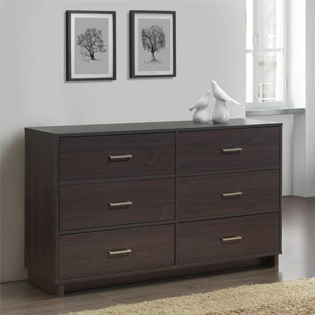 Mainstays Silverton 6 Drawer Dresser, Multiple Colors ()