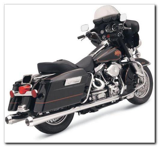 Bassani Megaphone Mufflers For Harley-Davidson Touring-ZZ 1801-0184 by Bassani