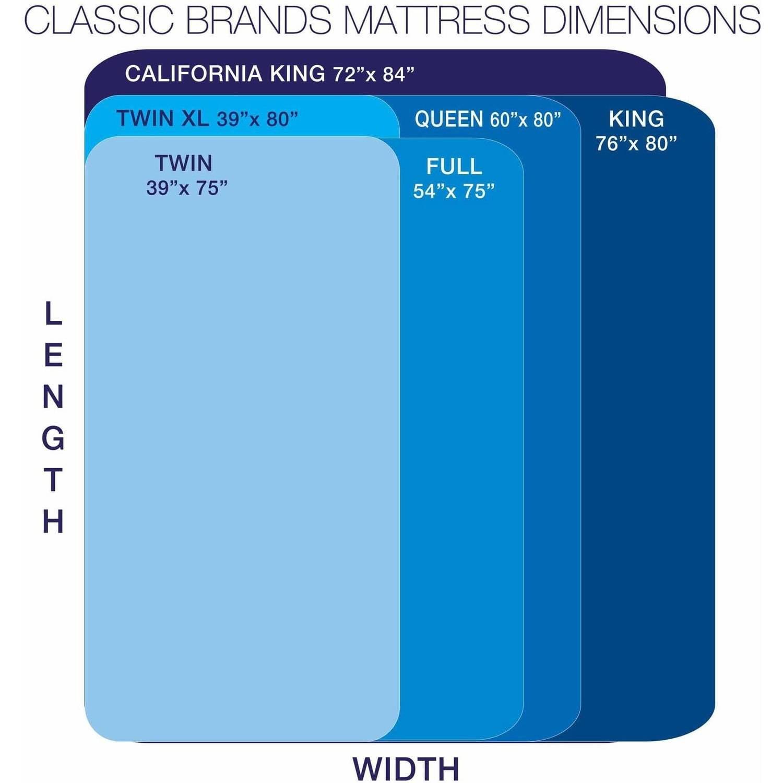 Modern Sleep Cool Gel Memory Foam 12-Inch Mattress, Multiple Sizes -  Walmart.com