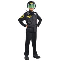 Police Swat Officer Deluxe Costume Boys Child Small 4 - 6