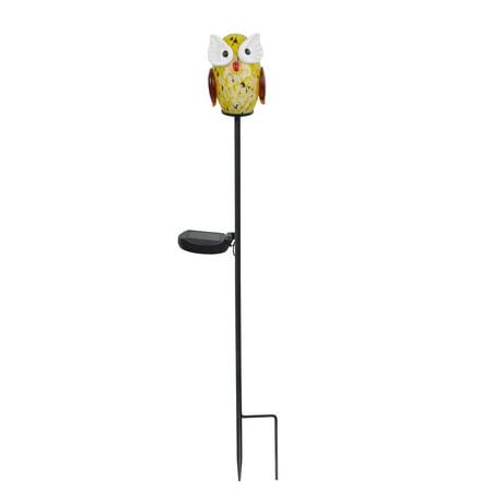Owl Solar Garden Light - Peaktop - Outdoor Solar Owl Garden Stake - Yellow