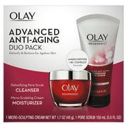 Olay Regenerist Duo Pack, Cleanser 5.0 fl oz, Moisturizer, 1.7 oz