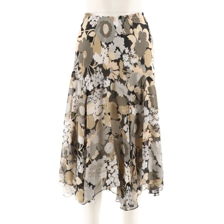 Bob Mackie Fully Lined Floral Print Skirt A202154