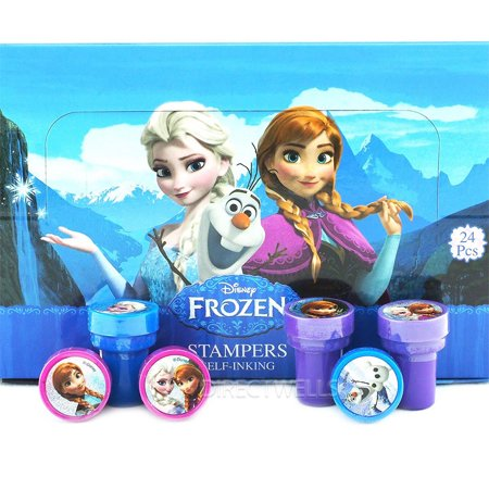 24 frozen Character Authentic Licensed Self Inking Stampers in Box - Halloween Self Inking Stampers