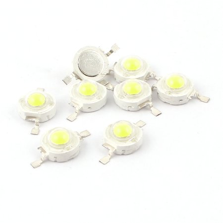 100lm Led - 10 pieces white light emitting diode chip led 1w 100lm