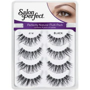 Salon Perfect Perfectly Natural Multi Pack Eyelashes, 614 Black, 4 pr