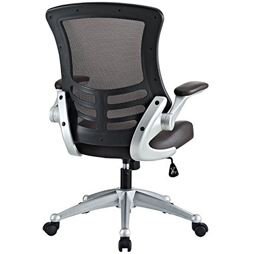 lexmod clutch office chair with black mesh back and seat endo mesh