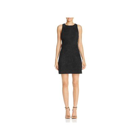 Cupcakes and Cashmere Womens Westmore Faux Suede Cocktail Dress Black XS