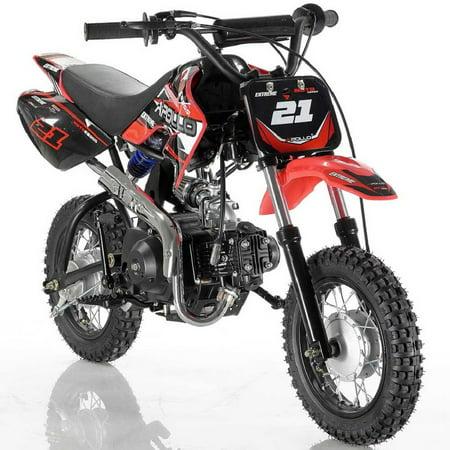 Red Apollo DB-21 70cc Semi Automatic Dirt Bike - Walmart.com
