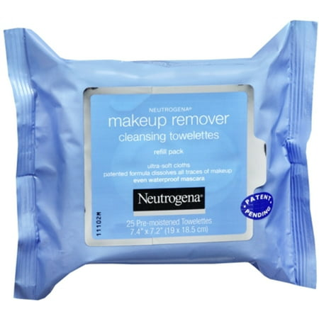 Neutrogena Make-Up Remover Cleansing Towelettes Refills 25 Each (Pack of