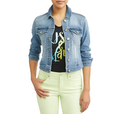 Sofia Jeans By Sofia Vergara Marianella Soft Stretch Washed Denim Jacket Women's (Light Wash) (Vintage Blue Jean Jacket)