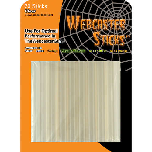 Halloween Webcaster Clear Web Stick