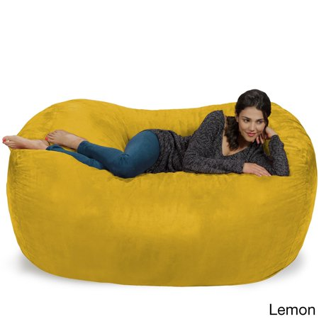 Outstanding Large Memory Foam Micro Suede Beanbag Couch Short Links Chair Design For Home Short Linksinfo