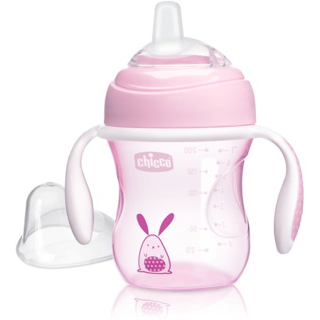 Chicco Soft Silicone Spout Transition Sippy Cup 7oz 4m+ (The Best Sippy Cup To Transition To From Bottle)