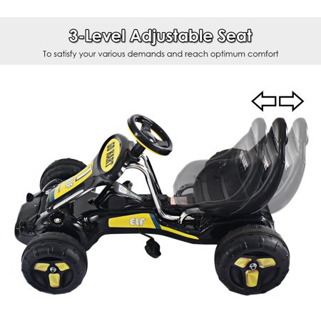 Go Kart Kids Ride On Car Pedal Powered Car 4 Wheel Racer Toy Stealth Outdoor - image 4 of 8
