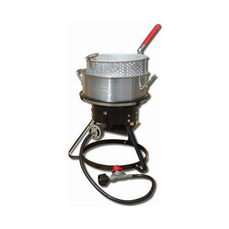 Metal Fusion-Import 1217 Outdoor Fish Fryer, 10-Qt., 12-In. - Quantity (Best Propane Fish Fryer)