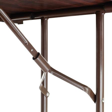 Alera Wood Folding Table, Rectangular, 71 7/8w x 29 7/8d x 29 1/8h, Mahogany -ALEFT727230MY