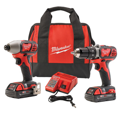 M18 Drill Kit, Compact, Two 18V Lithium-ion Batteries, Milwaukee Elec, 2691-22