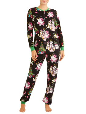 Product Image Women s and Women s Plus Christmas Dropseat Union Suit 342b25b7f