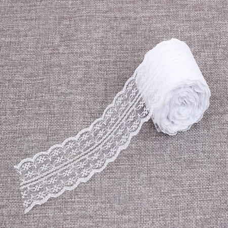 Ribbon Laces (Lace Roll Lace Ribbon Vintage Style Scalloped Edge Lace Ribbon DIY Bridal Wedding Decoration)