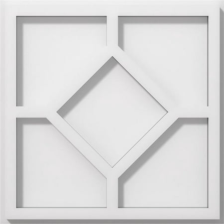 Ekena Millwork CMP10EY 10 in. OD x 3.5 in. Square Embry Architectural Grade PVC Contemporary Ceiling Medallion - image 1 of 1