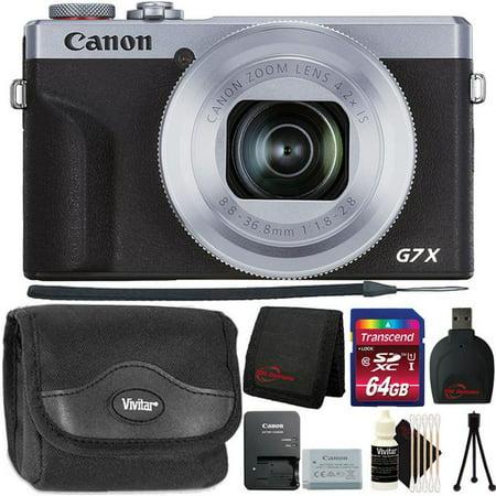 Canon PowerShot G7 X Mark III Full HD 120p Video Digital Camera - Silver Ultimate Accessory Bundle