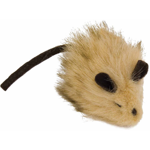 Our Pet's Wooly Mouse 1010010534 Cat Toy, Brown