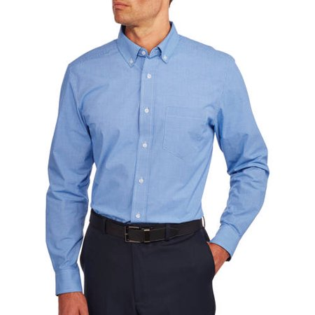 George Men 39 S Long Sleeve Poplin Shirt