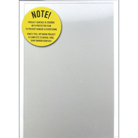Rectangle Acrylic Plastic Mirror Sheet 6 x 9 Inches Easy to Cut Unbreakable