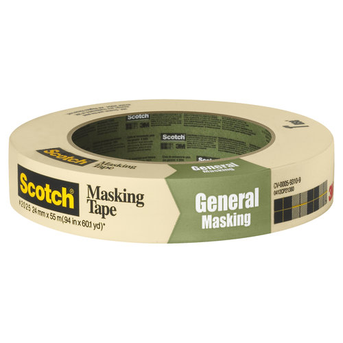 Scotch Greener Masking Tape for Basic Painting, .94 in x 60.1 yd (24 mm x 55 m)