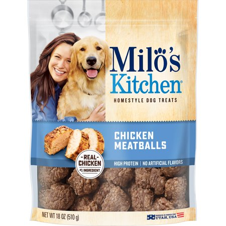 Milo's Kitchen Chicken Meatballs Homestyle Dog Treats, 18 oz