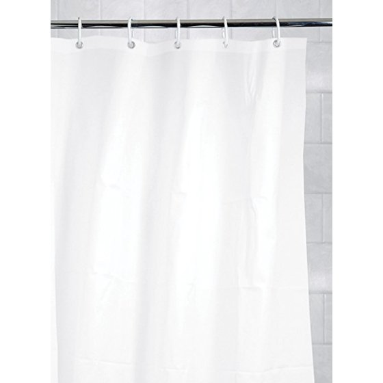 Kiera Grace Mildew-Free Shower Curtain Liner with Magnets and ...