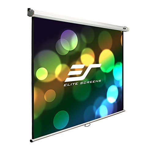 "Elite Screens 100"" 4:3 Manual Pull Down Projection Screen, Matte White"