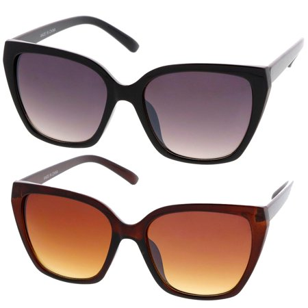 Lady Fashion Eyewear - MLC Eyewear Simple Fashion Geometric Frame Cat Eye Women Sunglasses Model S60W3202