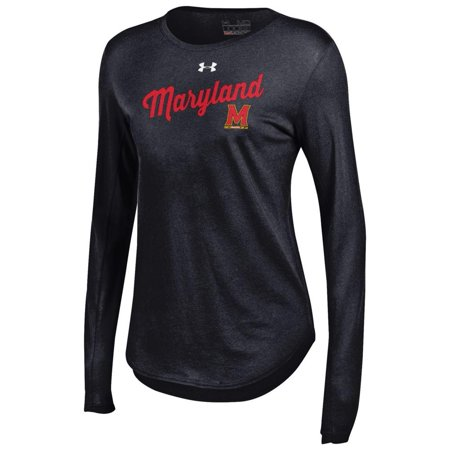 Women s Long Sleeve University of Maryland Terps Under Armour Baseball Tee  - Walmart.com a9c0e4d5e0