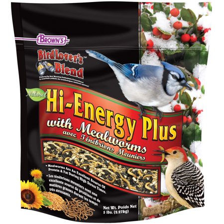 Bird Lover's Blend Hi-Energy Plus with Mealworms, 5 (Energy Bird)