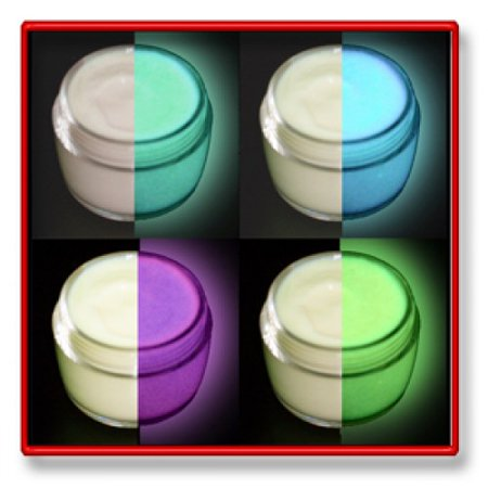 4 Color Daytime Invisible Glow in the Dark Paint Set-15ml pots - Glow In The Dark Colors
