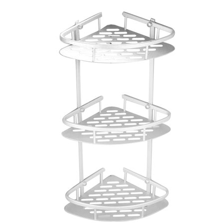 Basket Bathroom Shelf (HURRISE Bathroom corner shelf ,Bathroom Corner bath Rack Storage Shower Caddy Basket 3 Tier )