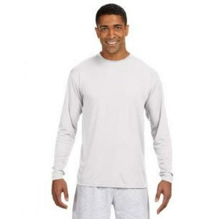 8f000a51 A4 Men's Cooling Performance Crew Long Sleeve T-Shirt, White, X-Large -  Walmart.com