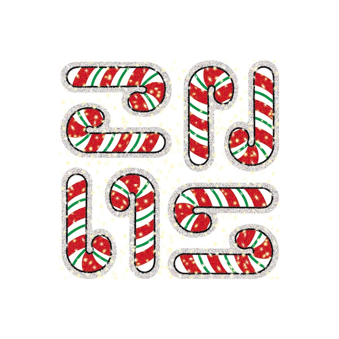 Candy Canes Dazzle Stickers Super Packs by Carson-Dellosa
