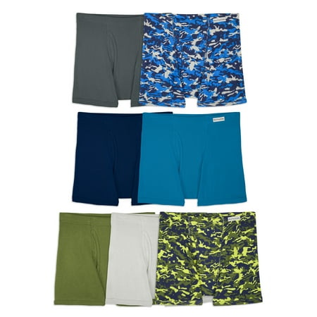 Fruit of the Loom Boys' Boxer Brief Underwear, 7 Pack. (Little Boys & Big Boys), Assorted Colors (Joe Boxer Underwear For Kids)