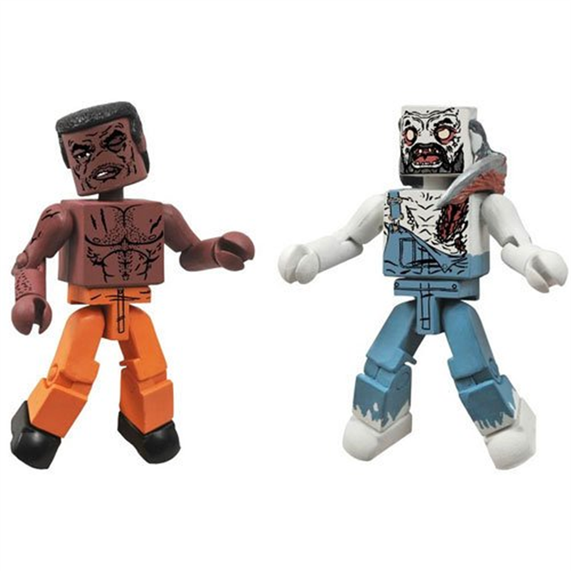 Diamond Select Toys Walking Dead Minimates Series 3 Tyreese and Farmer Zombie Action Figure
