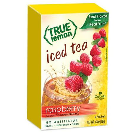 (2 Pack) True Lemon Drink Mix, .63 Oz, Raspberry Iced Tea, 6 Packets (Pack of