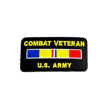 Combat Veteran Ribbon US Army Embroidered Military Patch Iron Sew PWPM5022