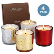 2 richly soy bean scented tealight candle gift set one wick candle glass holder jar container fall win