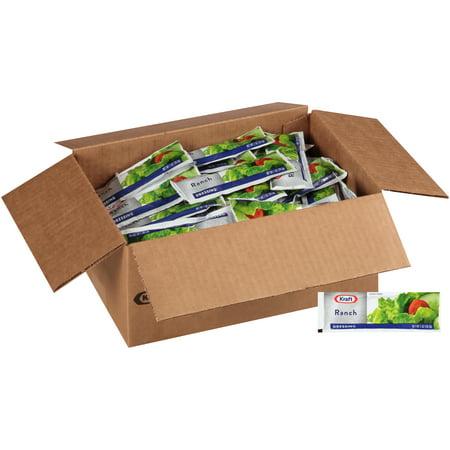 KRAFT Single Serve Ranch Salad Dressing, 1 oz. Packets (Pack of 100) Dressing Single Packets